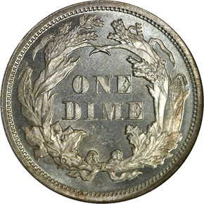 1870 10C MS reverse