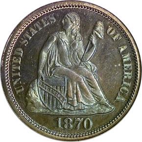 1870 10C PF obverse