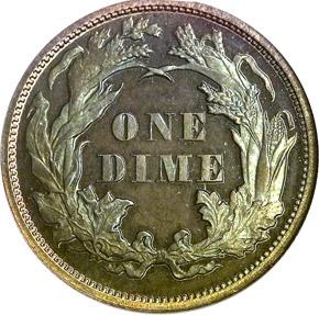 1870 10C PF reverse