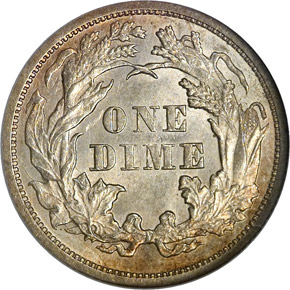 1871 10C MS reverse