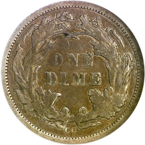 1871 CC 10C MS reverse