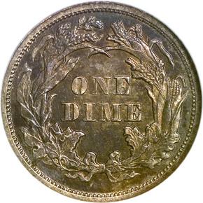 1872 10C PF reverse