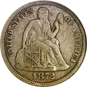 1872 CC 10C MS obverse