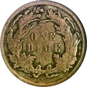 1873 CC ARROWS 10C MS reverse