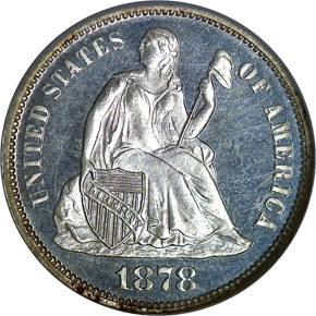 1878 10C PF obverse