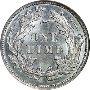 1880 10C MS reverse