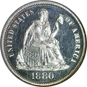 1880 10C PF obverse