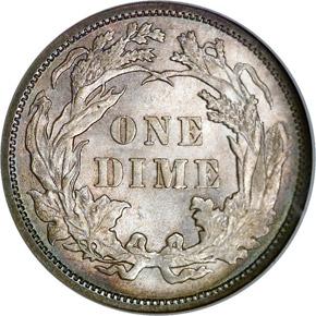1884 10C MS reverse