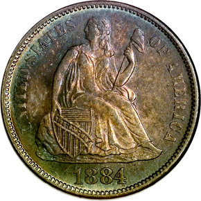 1884 S 10C MS obverse