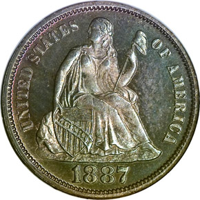 1887 10C PF obverse