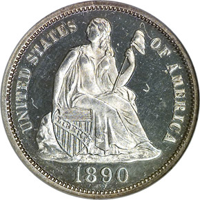 1890 10C PF obverse