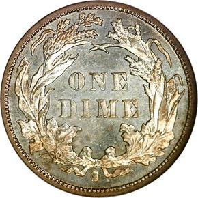 1890 S 10C MS reverse