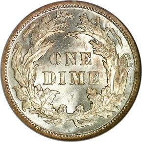1891 10C MS reverse