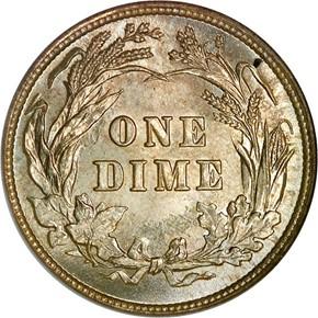 1892 10C MS reverse