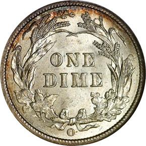 1892 O 10C MS reverse