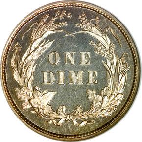 1893/2 10C PF reverse