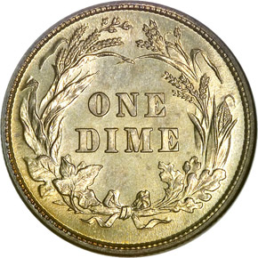 1893 10C MS reverse