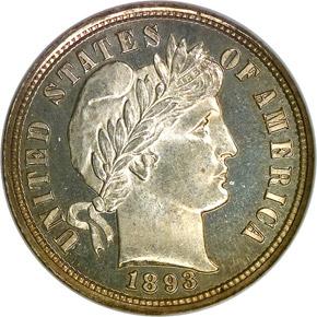 1893 10C PF obverse