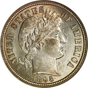 1895 10C MS obverse