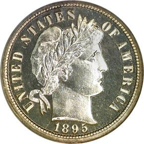 1895 10C PF obverse