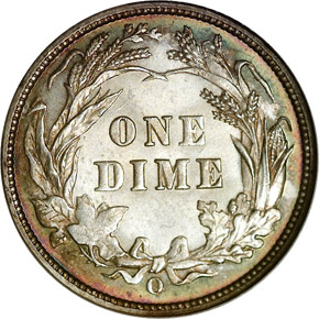 1895 O 10C MS reverse