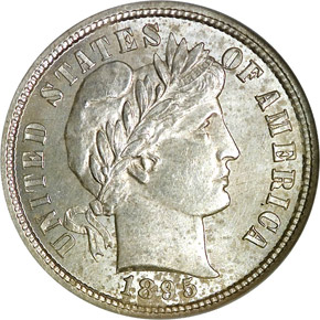 1895 S 10C MS obverse
