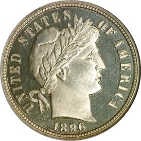 1896 10C PF obverse