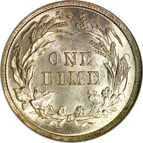 1897 10C MS reverse