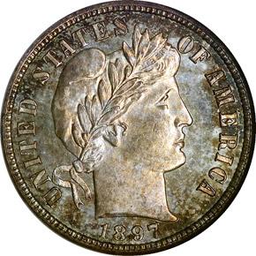 1897 S 10C MS obverse