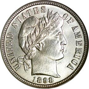 1898 O 10C MS obverse
