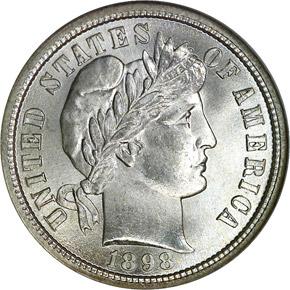 1898 S 10C MS obverse