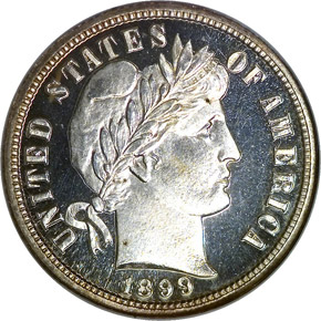 1899 10C PF obverse