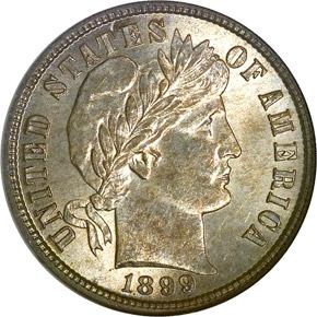 1899 S 10C MS obverse