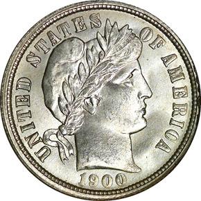 1900 O 10C MS obverse