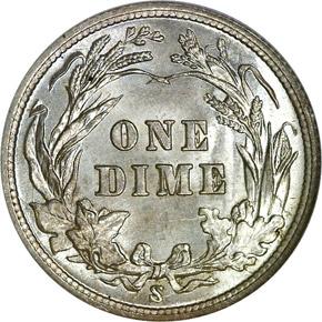 1900 S 10C MS reverse