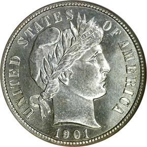 1901 S 10C MS obverse
