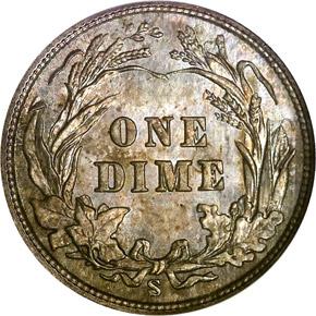 1902 S 10C MS reverse
