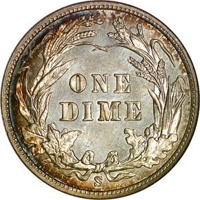 1904 S 10C MS reverse