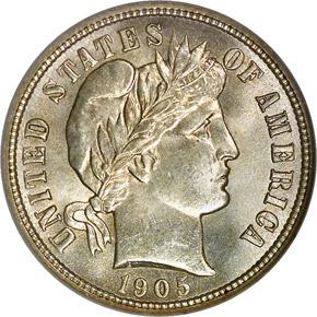 1905 10C MS obverse