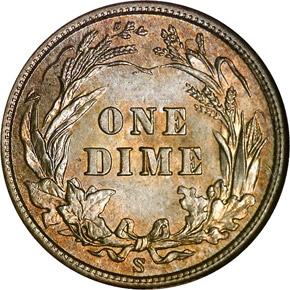 1905 S 10C MS reverse