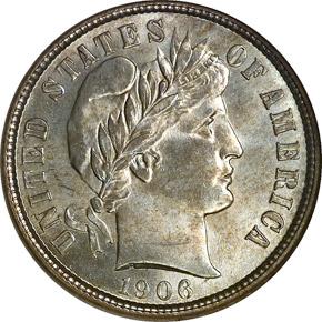 1906 D 10C MS obverse