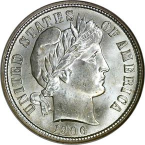1906 O 10C MS obverse