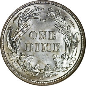 1906 O 10C MS reverse