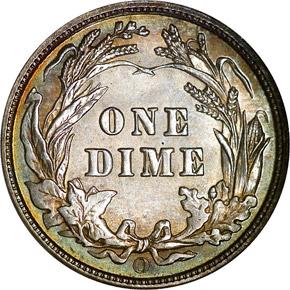 1907 O 10C MS reverse