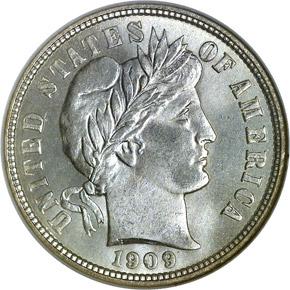 1909 O 10C MS obverse
