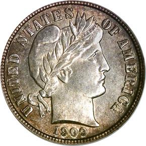 1909 S 10C MS obverse