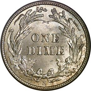 1910 S 10C MS reverse