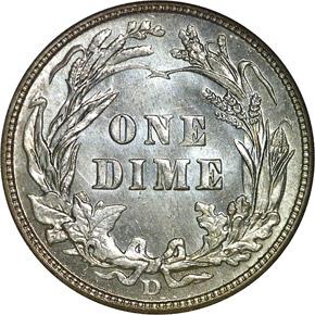 1911 D 10C MS reverse