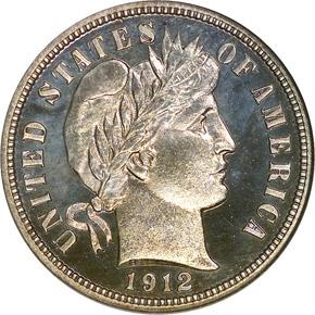 1912 10C PF obverse