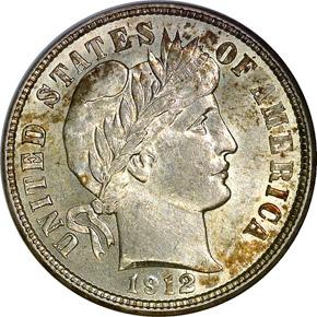 1912 D 10C MS obverse